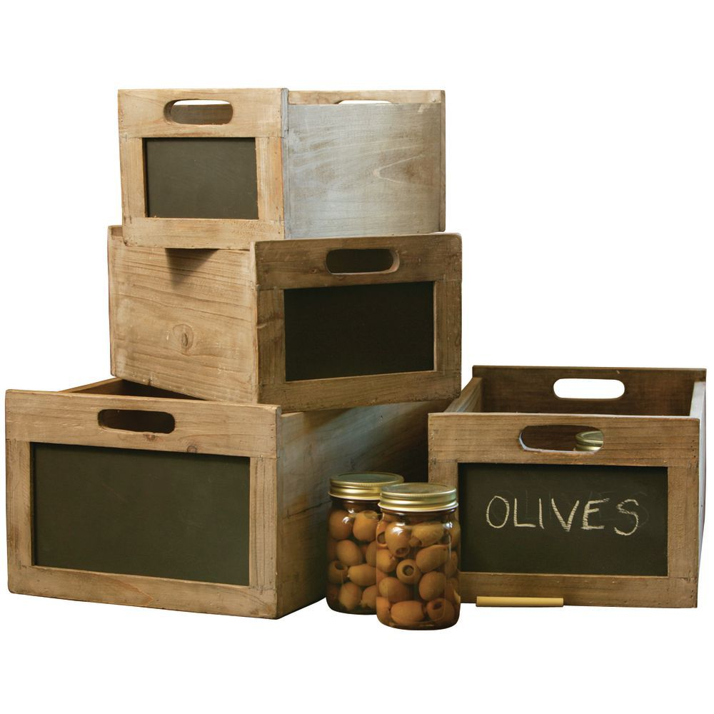 CRATES, PRODUCE, BLACKBOARD, SET/4