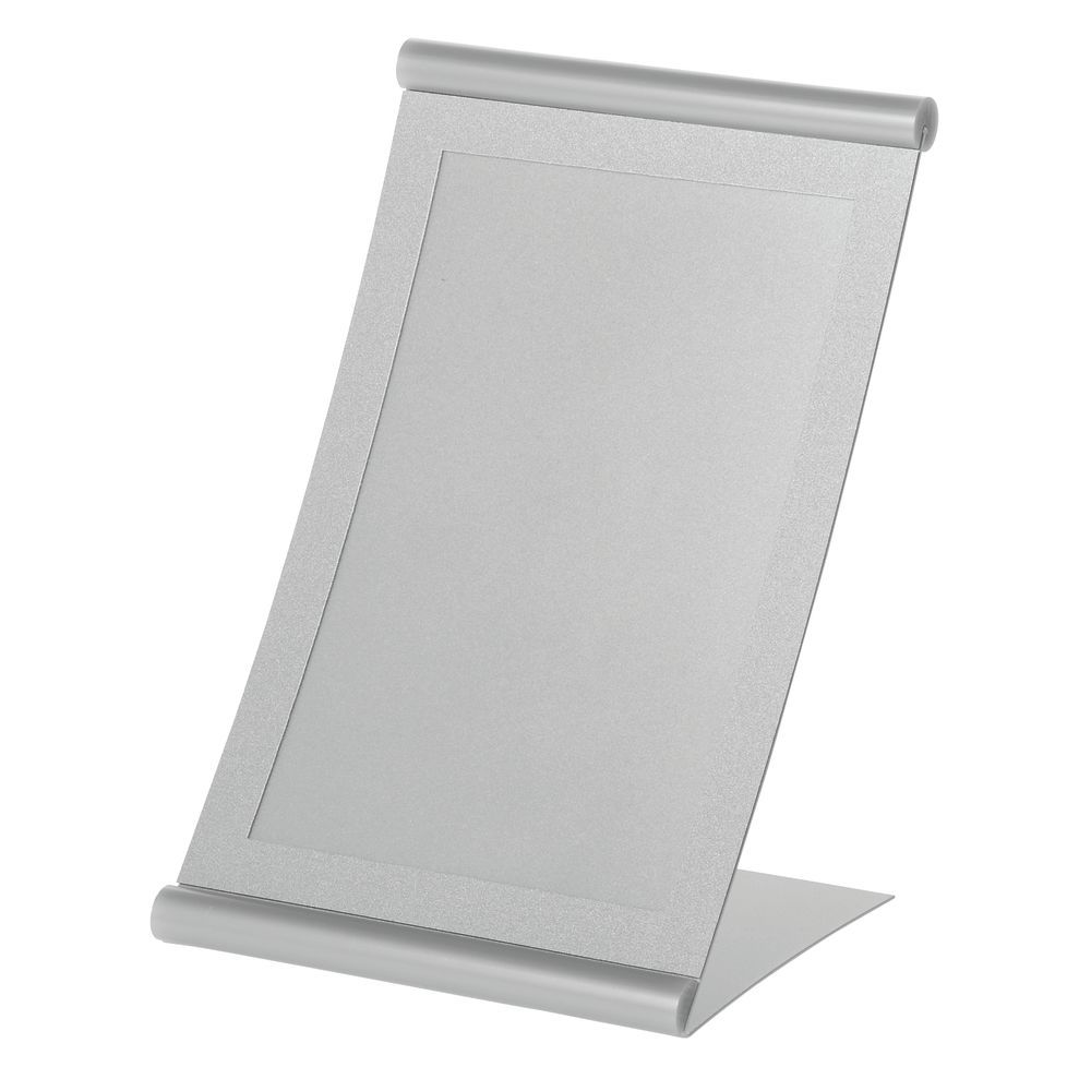 Matte-Silver Metal Sign Holder