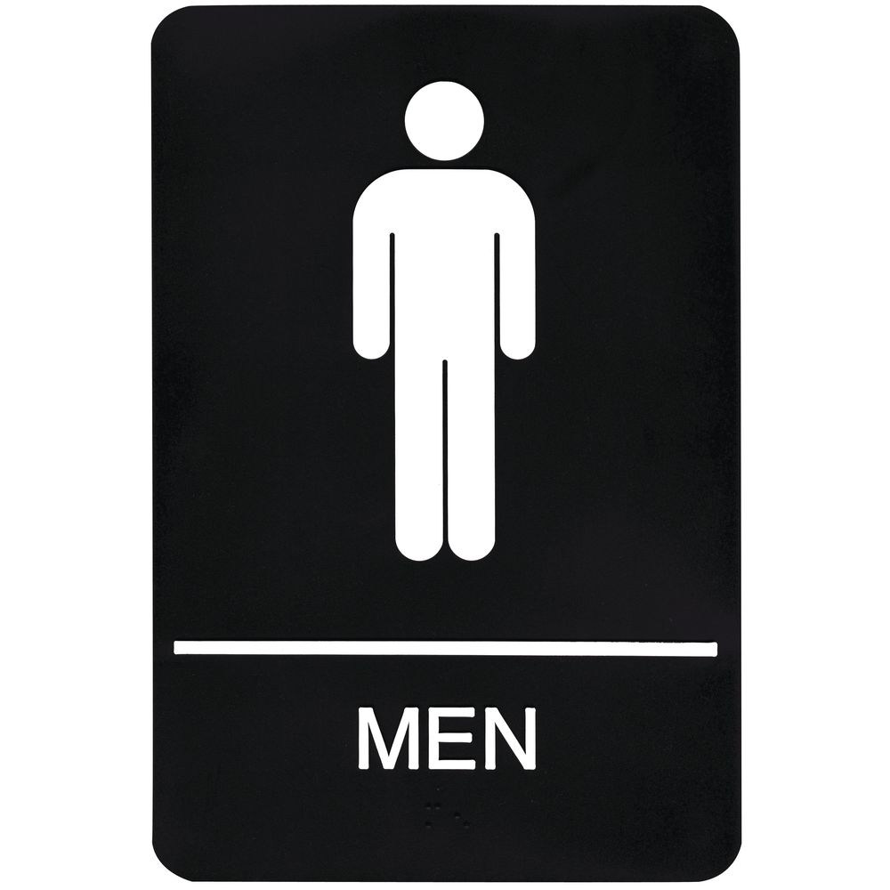 Ada Compliant Men S Restroom Sign Black