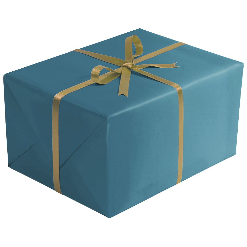 "GIFT WRAP, TURQUOISE, MATTE, 1/4 ROLL, 30""W"