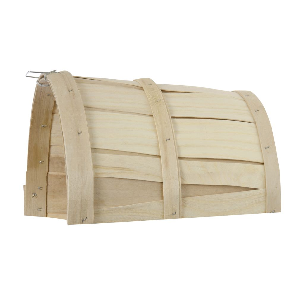 """Natural Half Cut Bushel Baskets with No Handles 9""""Dia x 12""""H"""