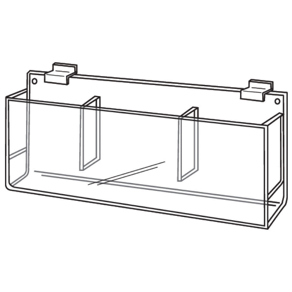 Slatwall Brochure Holder with Triple Compartments