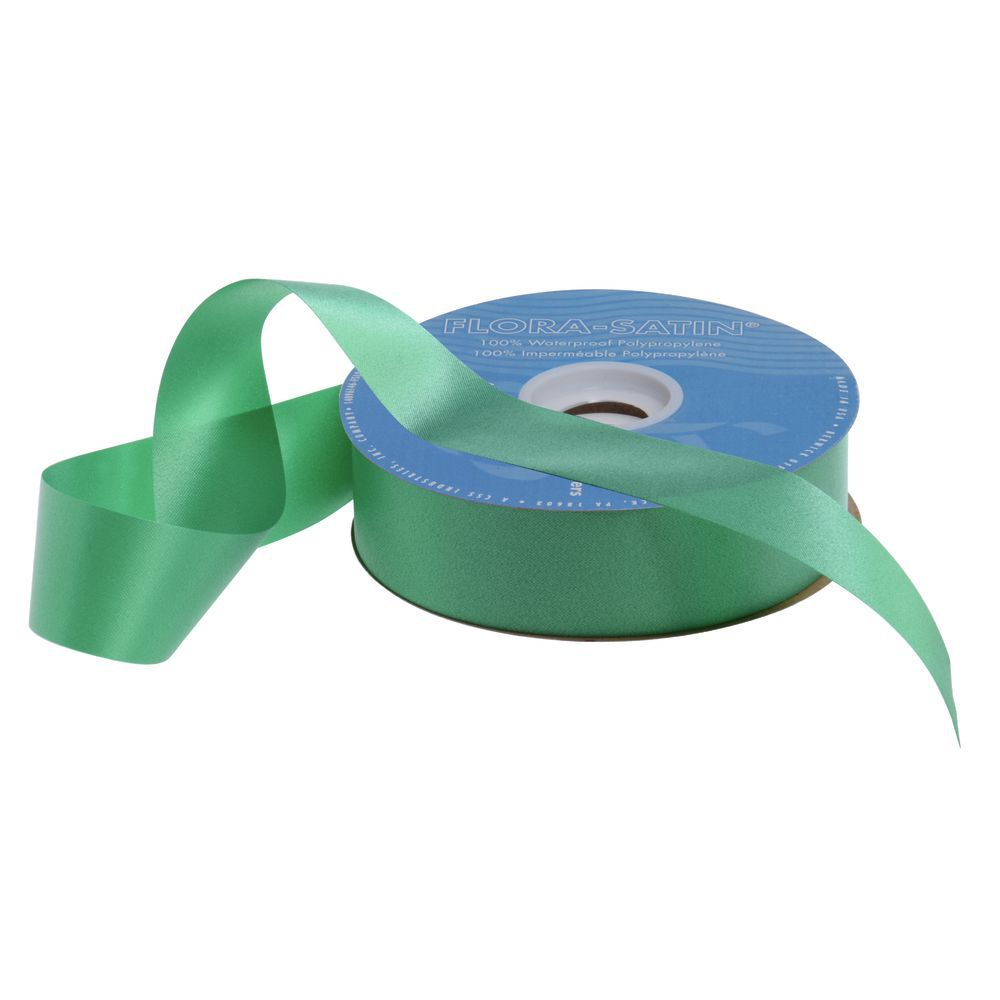 Emerald Flora-Satin Decorative Ribbon