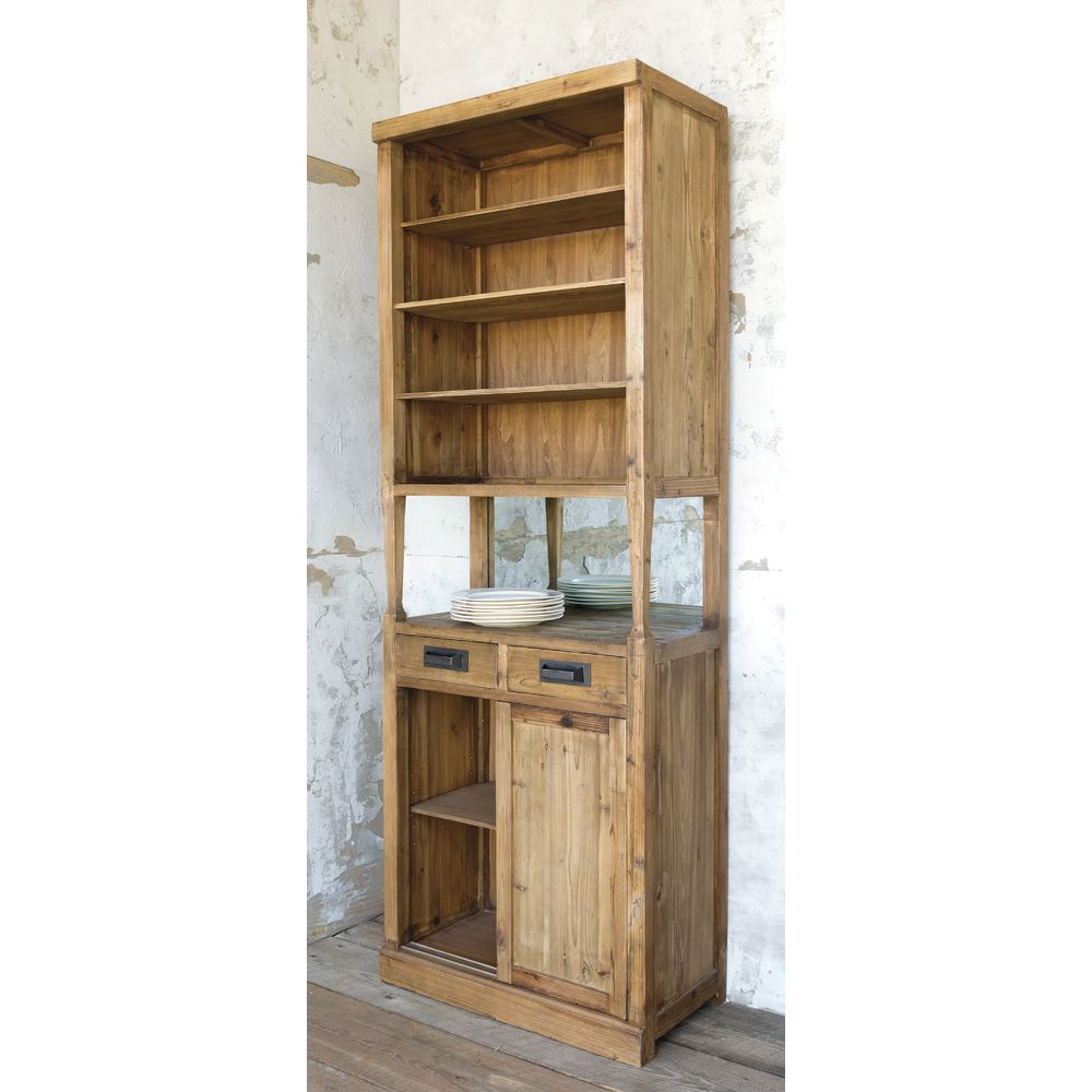 CABINET, , RECLAIMED PINE, NATURAL, TALL