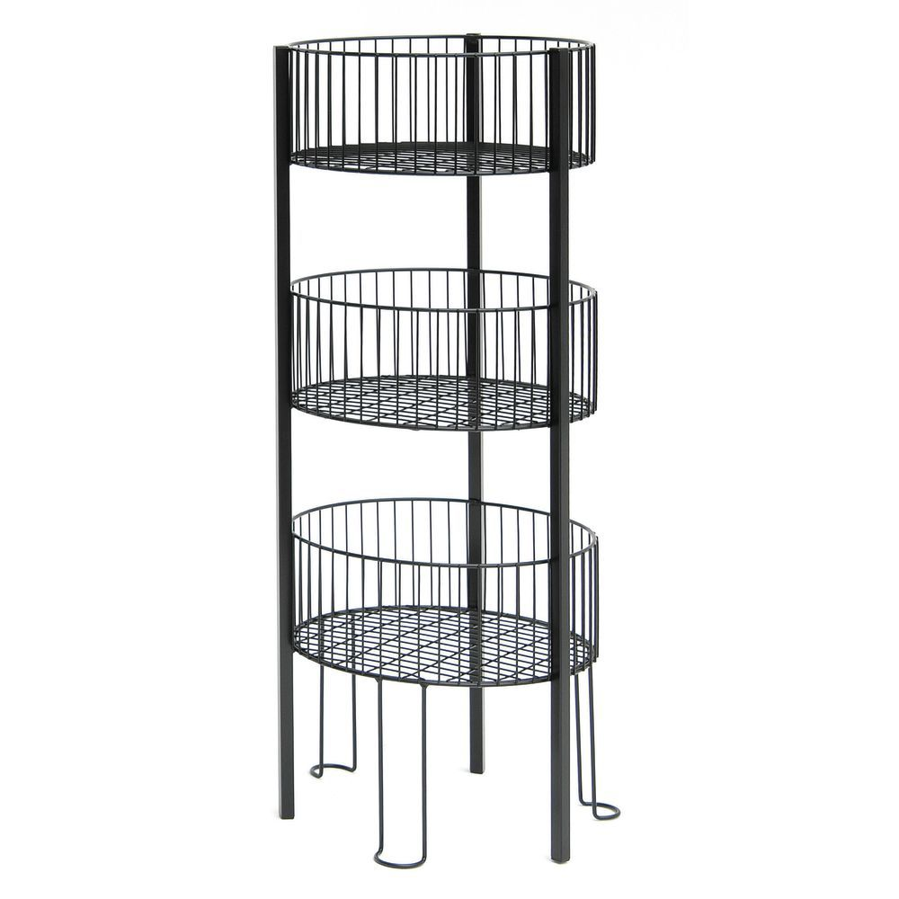 Stacking Wire Baskets with Metal Wire Construction