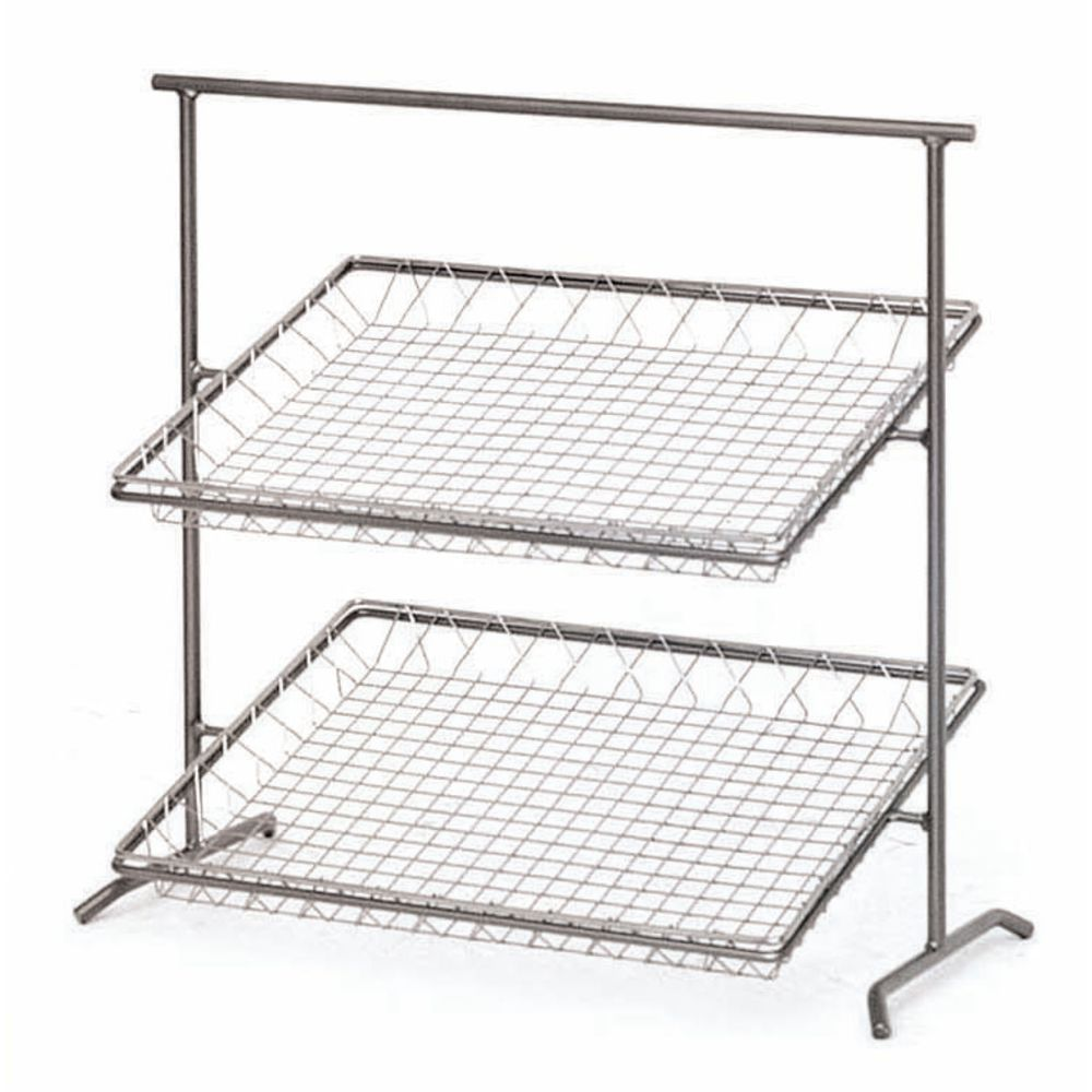 Large 2 Tier Basket Stand Holds Wide Range of Products