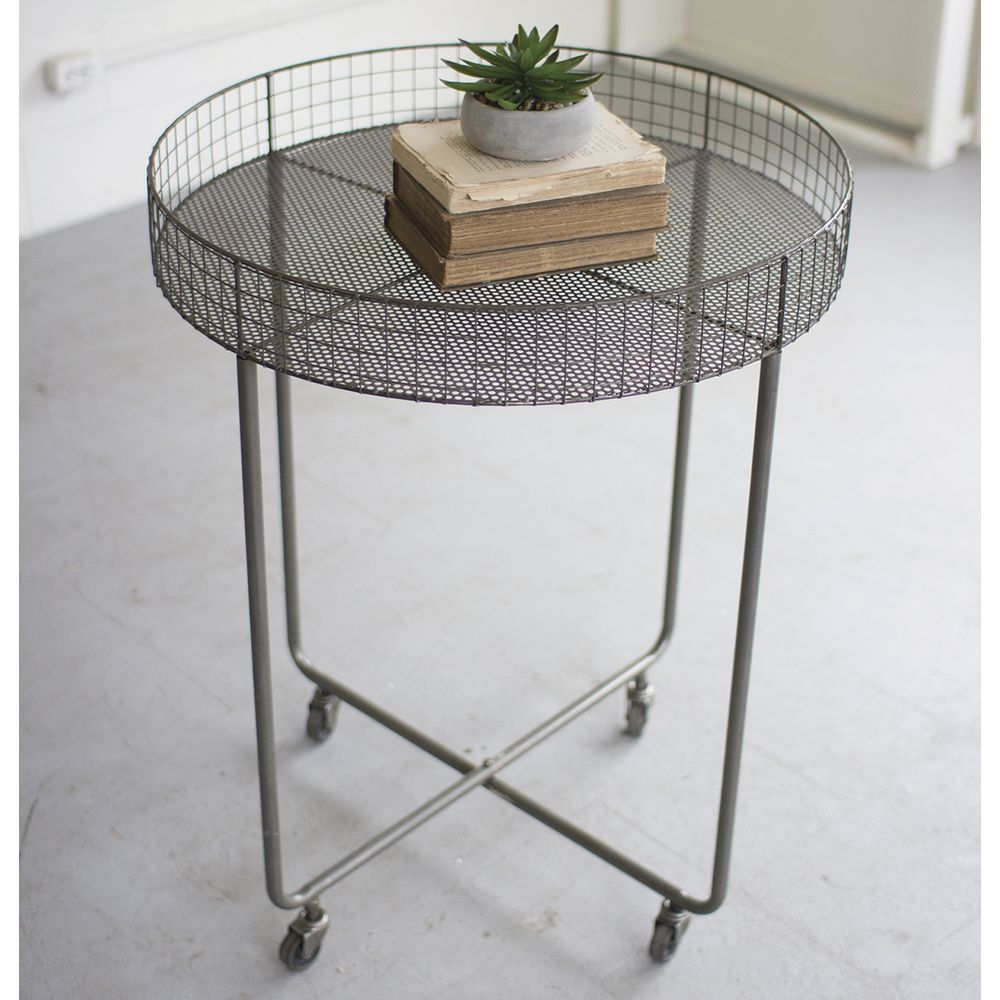 DUMP TABLE, ROLLING, WIRE, RAW METAL, HIGH