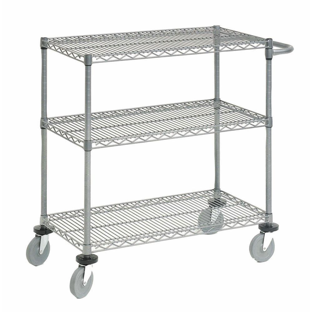 3-Tier Wire Cart 18 x 36 x 34