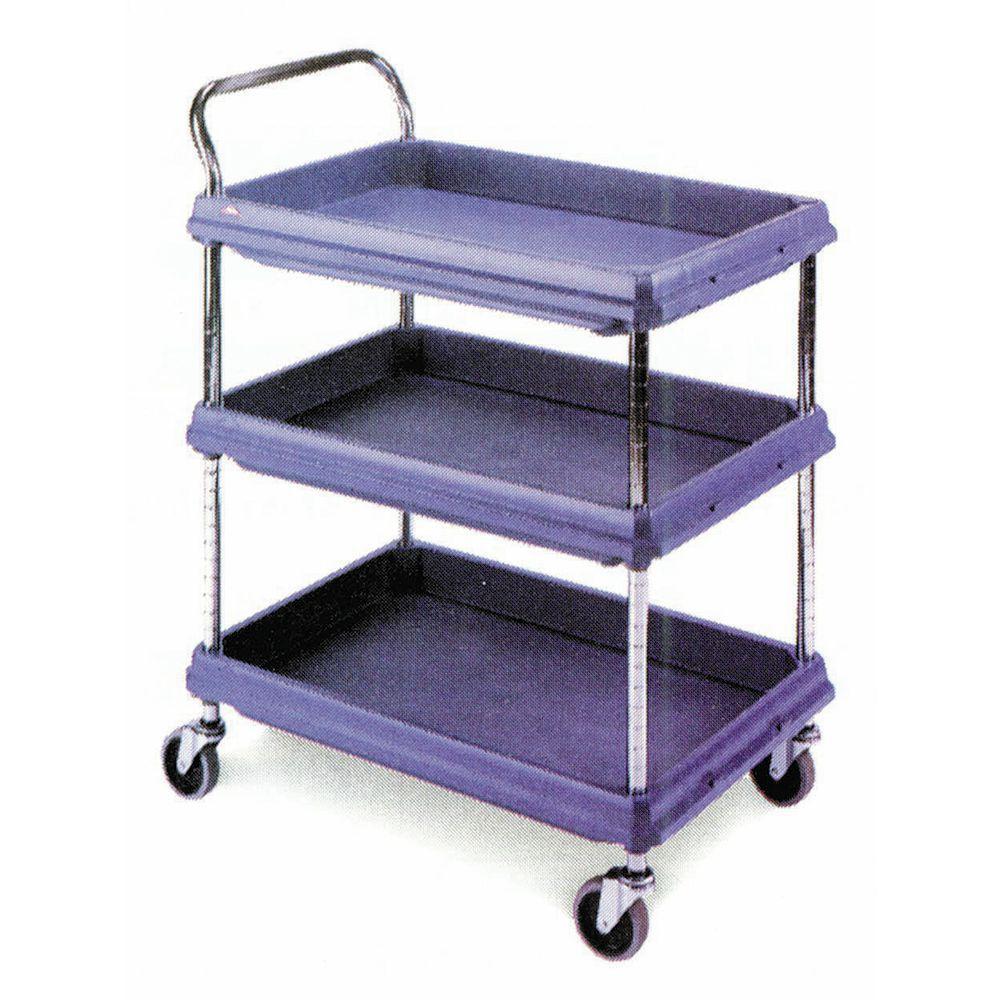"Metro Deep Ledge 2 Shelf Utility Industrial Cart 38 3/4"" x 27""W x 41""H Grey"