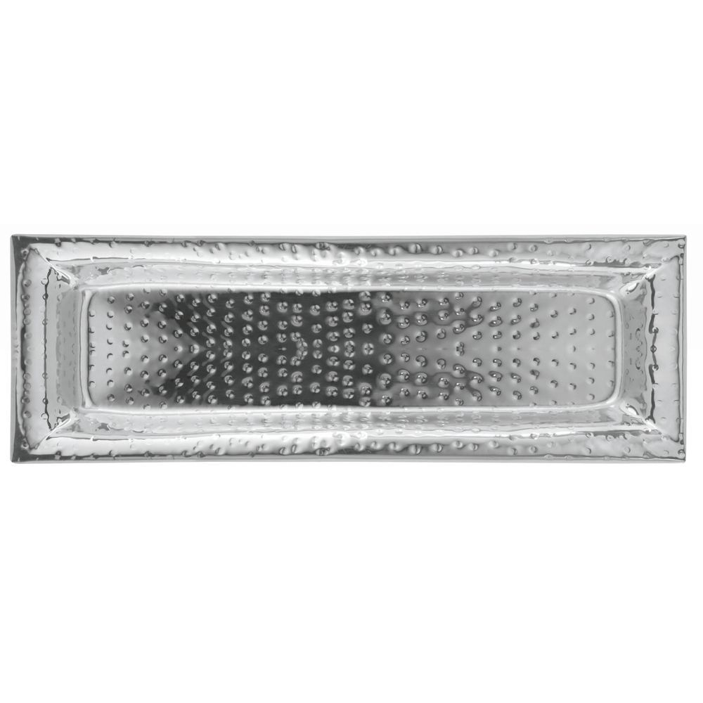 Hammered Stainless Steel Tray is Lightweight