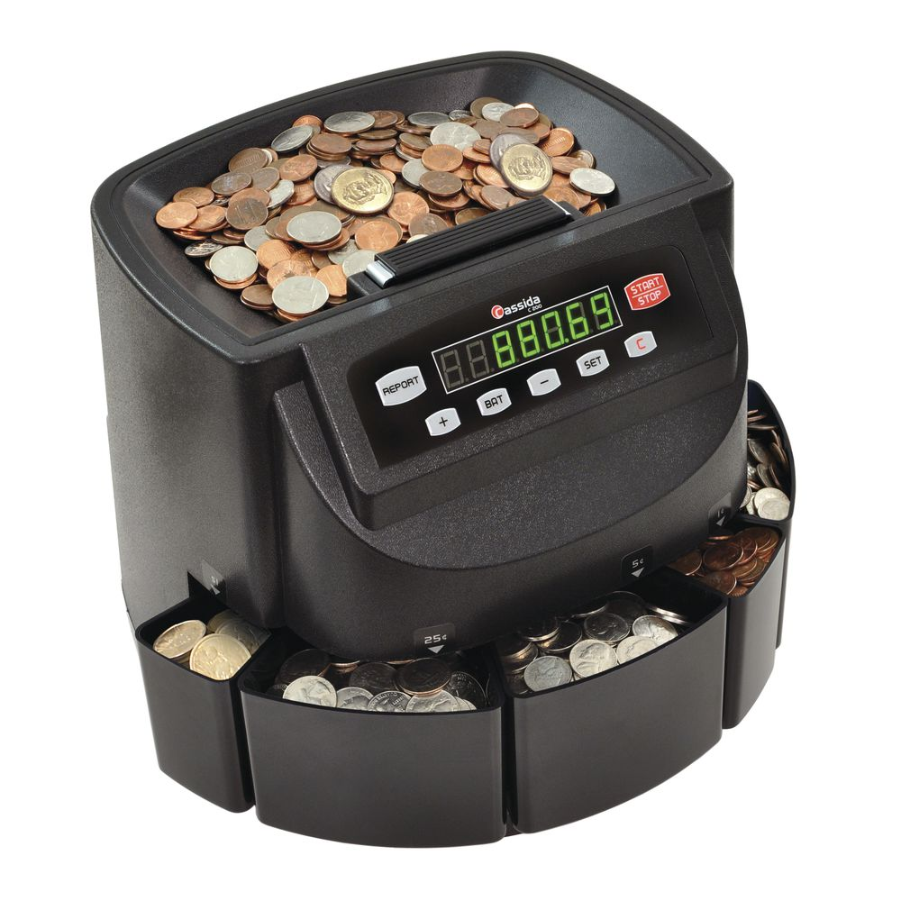 Cassida® Coin Counter Machine, US Currency