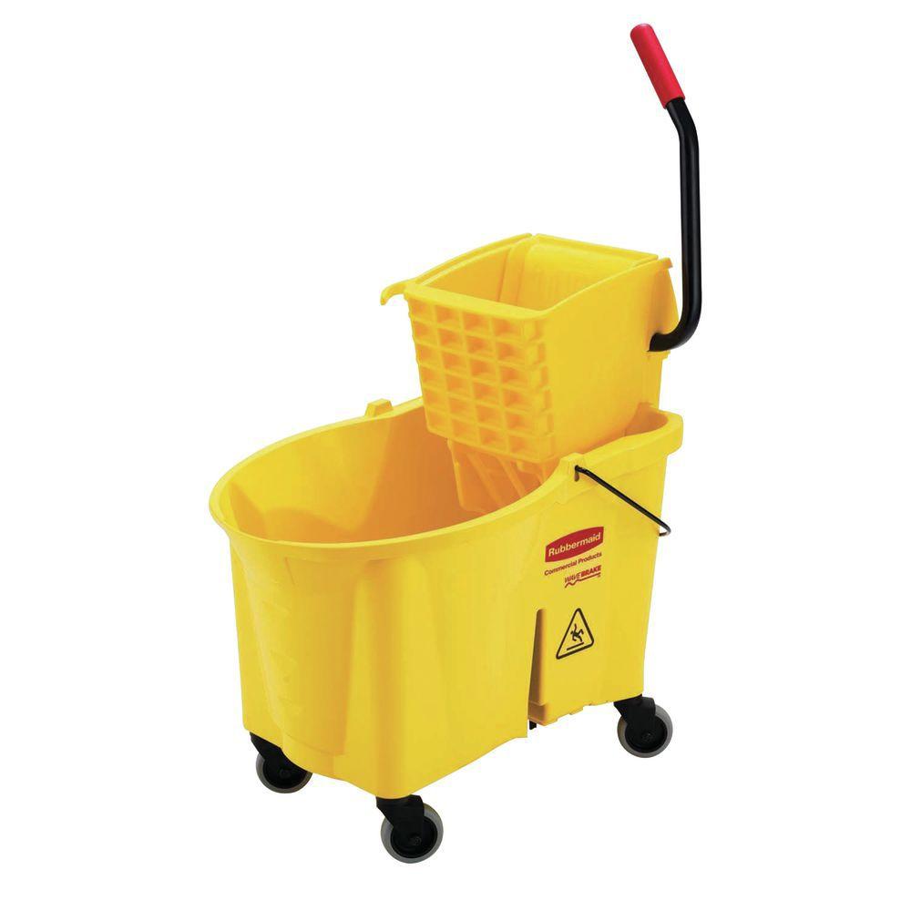 44 Qt. Bucket with side press wringer for improved comfort when wringing