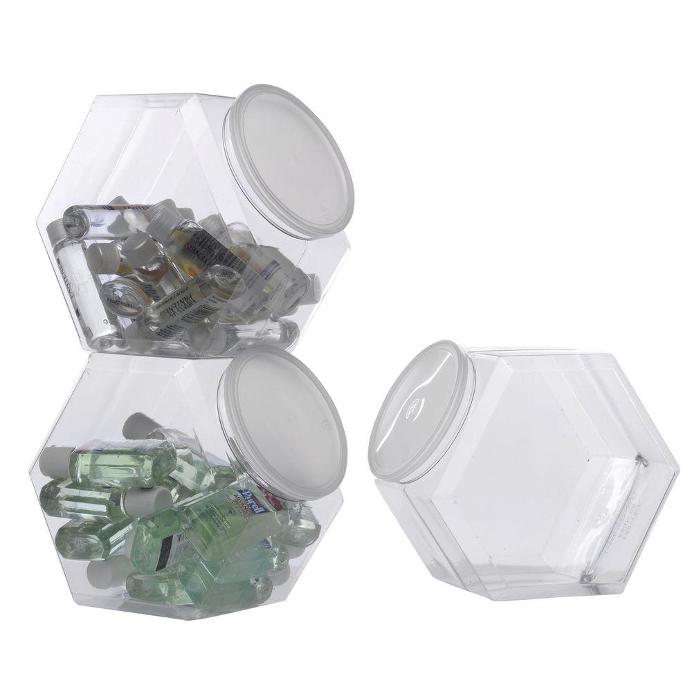 1.7 Gallon Plastic Hex Jar