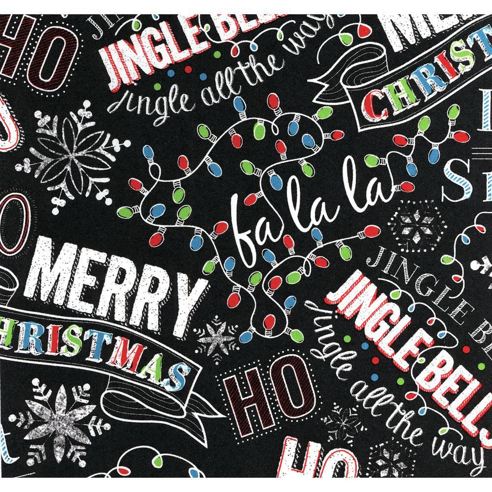 Christmas Chalk Holiday Paper, Quarter Roll