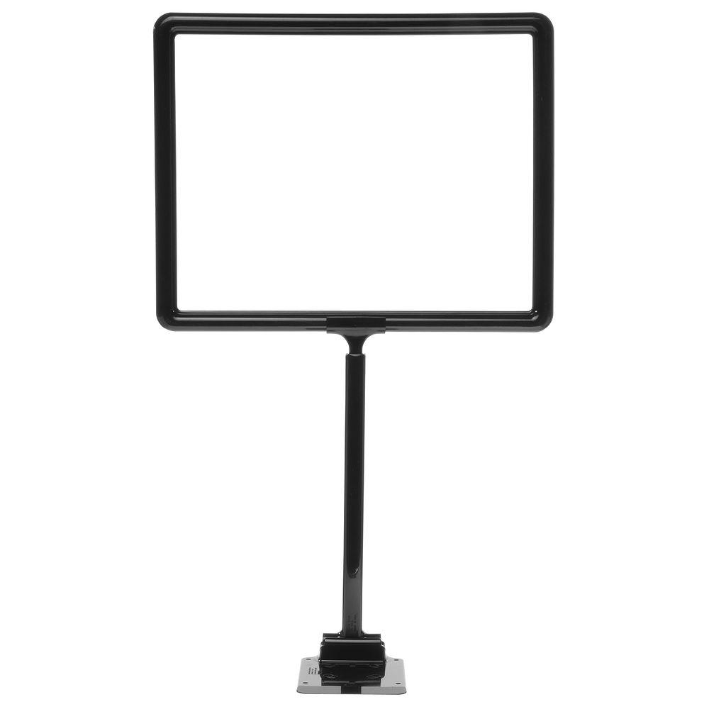"14 x 11 Display Sign Stand, Black, Adjust 12""-22"""