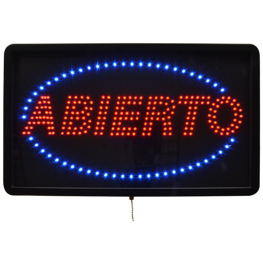 Large LED Abierto Sign