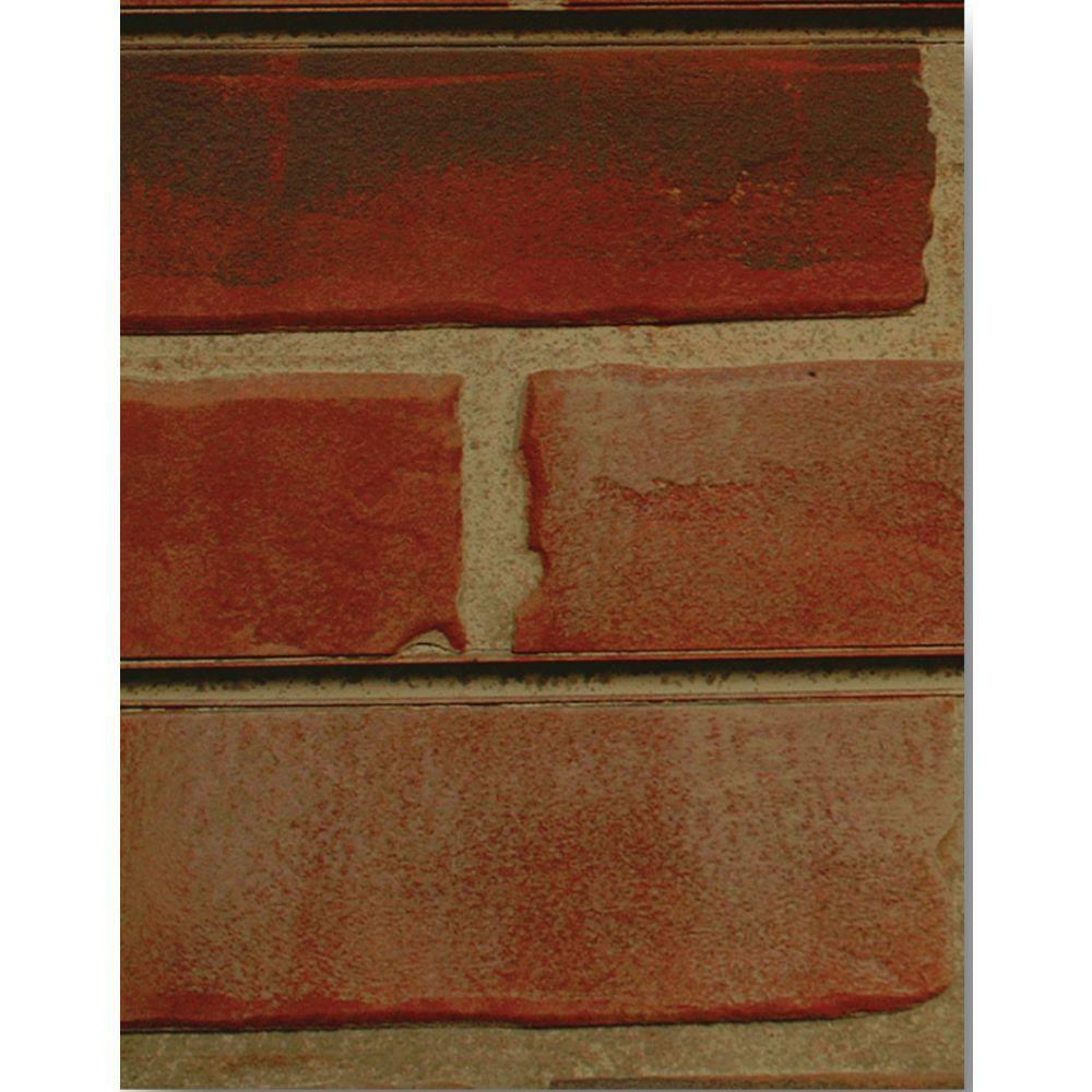 PANEL, RED BRICK, 2X8 SLAT-TEX