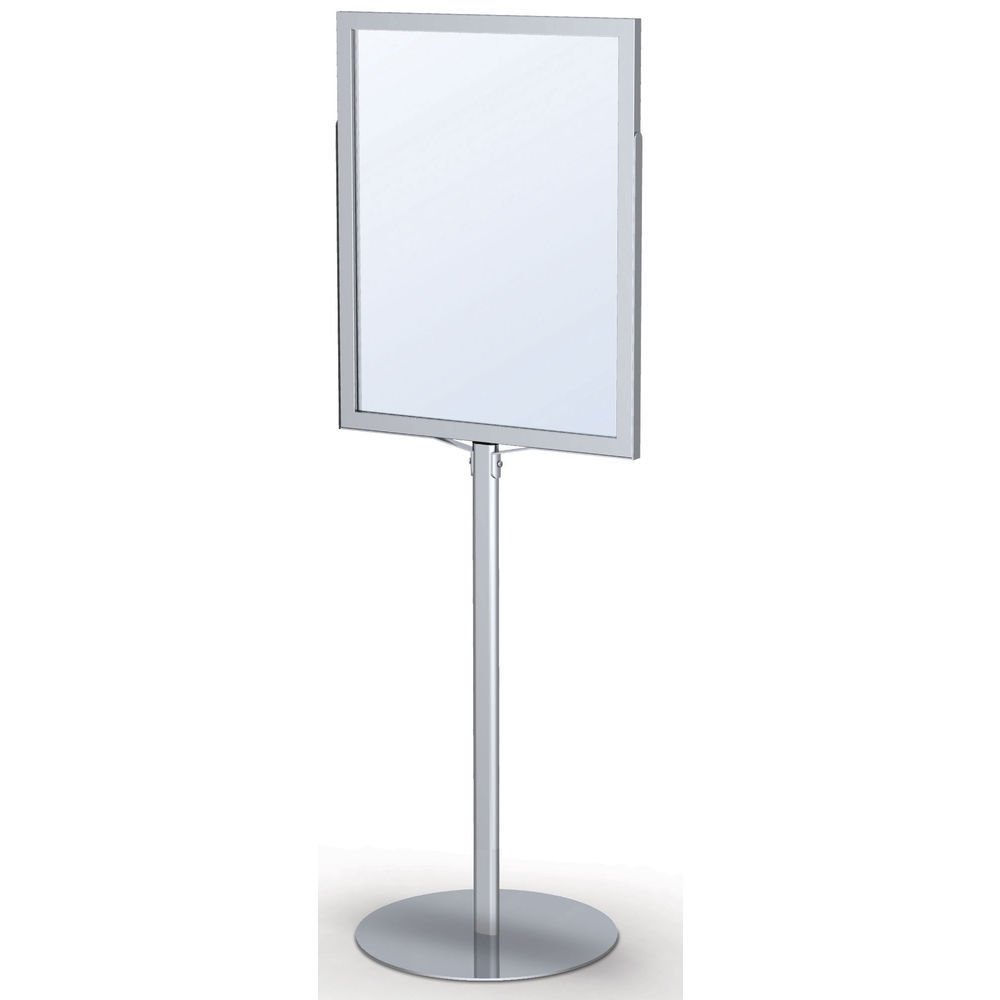 Floor Sign Holder available in Silver.