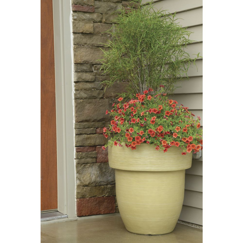 "PLANTER, TOLEDO, 20""DIA X 18""H, TRAVERTINE"