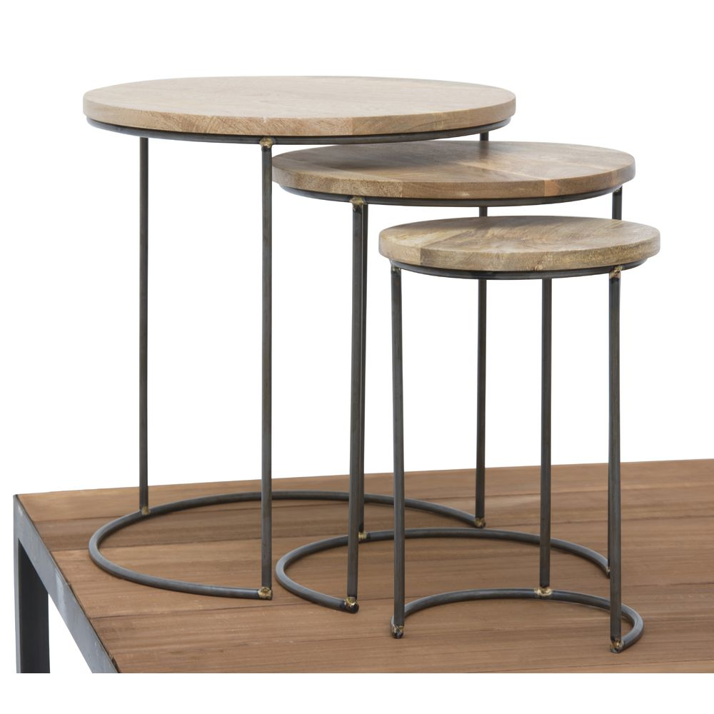 Round Retail Nesting Tables Set 3