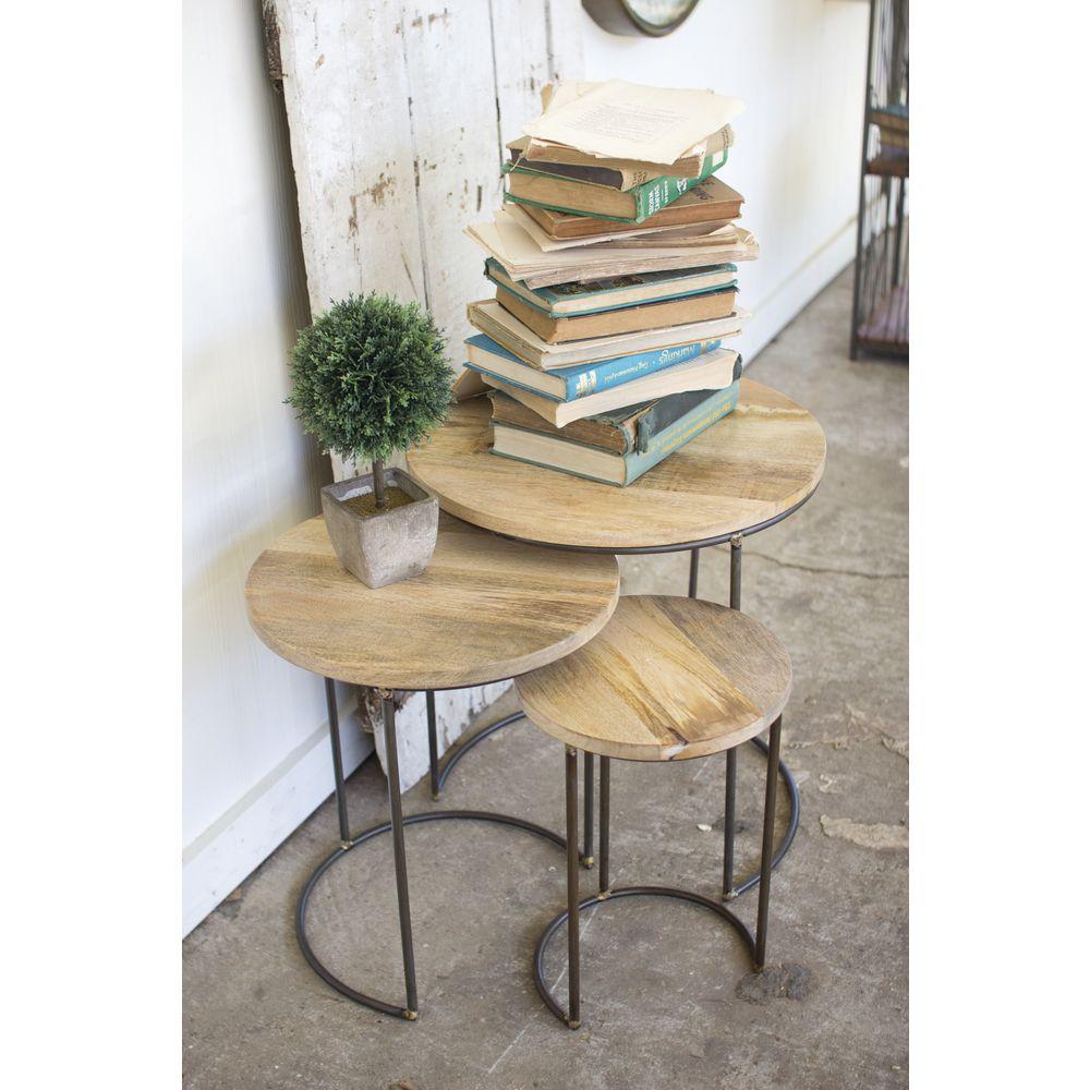 Round Retail Nesting Tables, Set 3