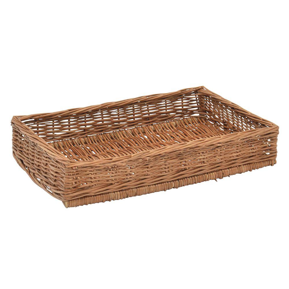 Rectangular Basket Serving Tray for Bakery Displays