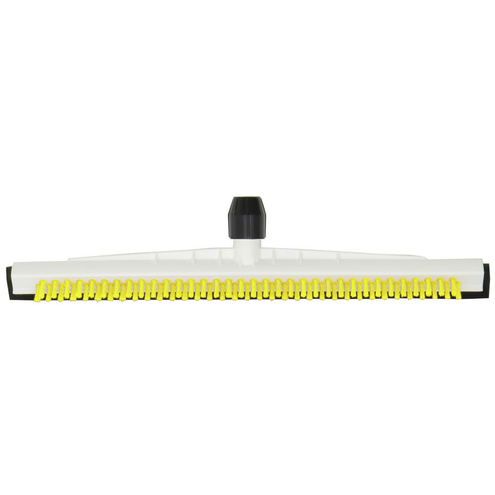 "Floor Squeegee With Brush Is 18""W In Yellow"