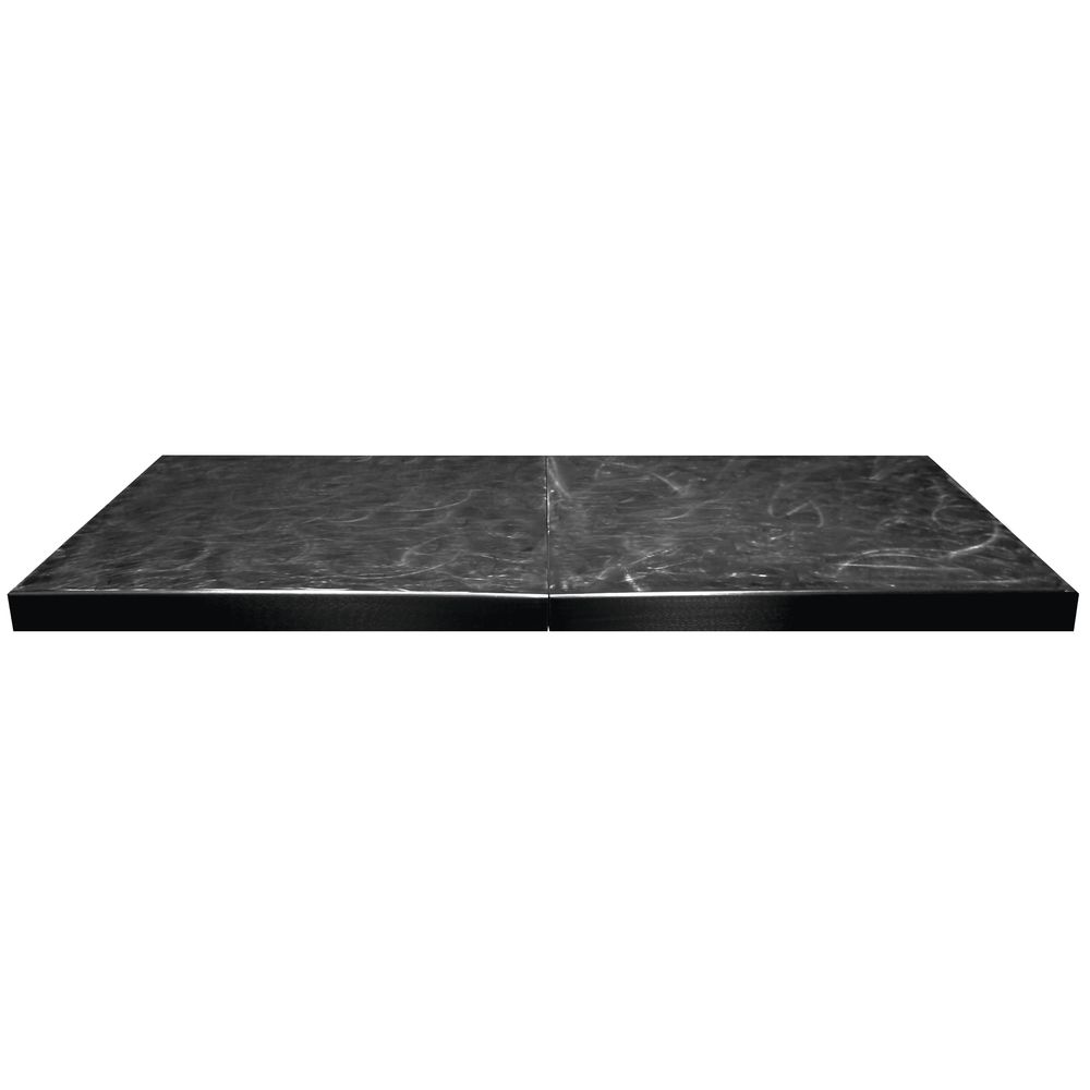 Professional Bakeware by Tablecraft Aluminum Buffet Table Cover 6' Black