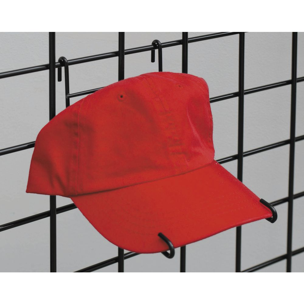 Black Gridwall Hat Display