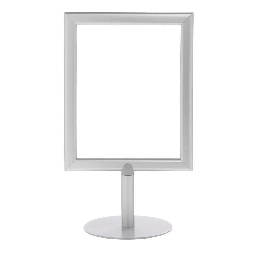 Silver Pedestal Sign Holder, 8 1/2 x 11