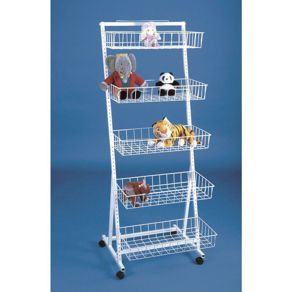Basket Rack with Four Swivel Casters