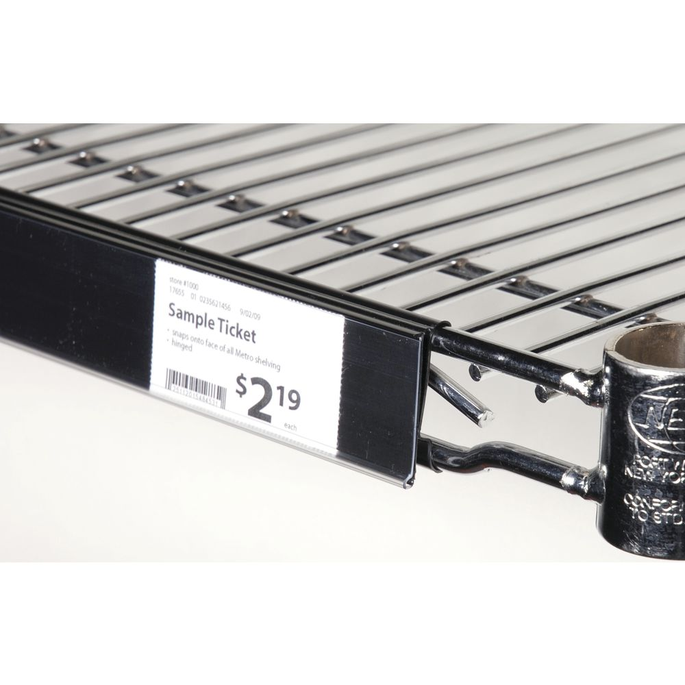 Edge View™ Wire Shelf Label Holder For Metro Shelving - 44L x 1 1/4H