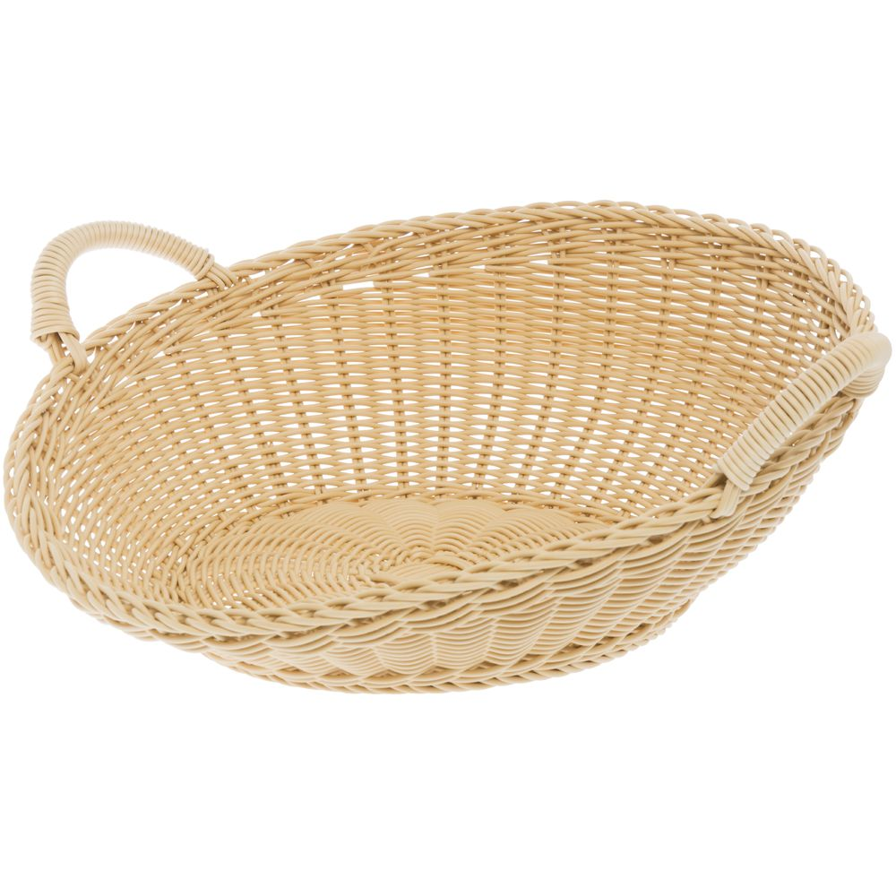 "Large Washable Wicker Sloped Round Baskets 18""Dia"