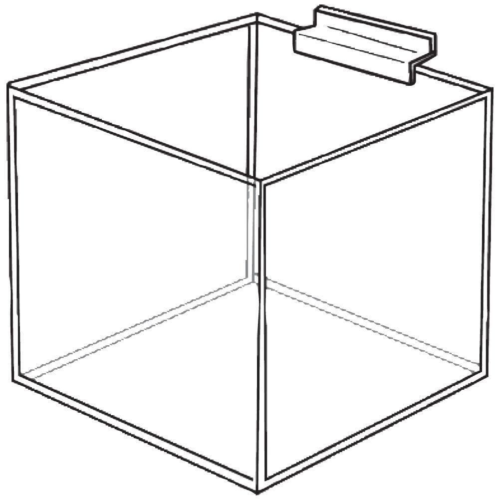 12 u0026quot  square acrylic slatwall bin