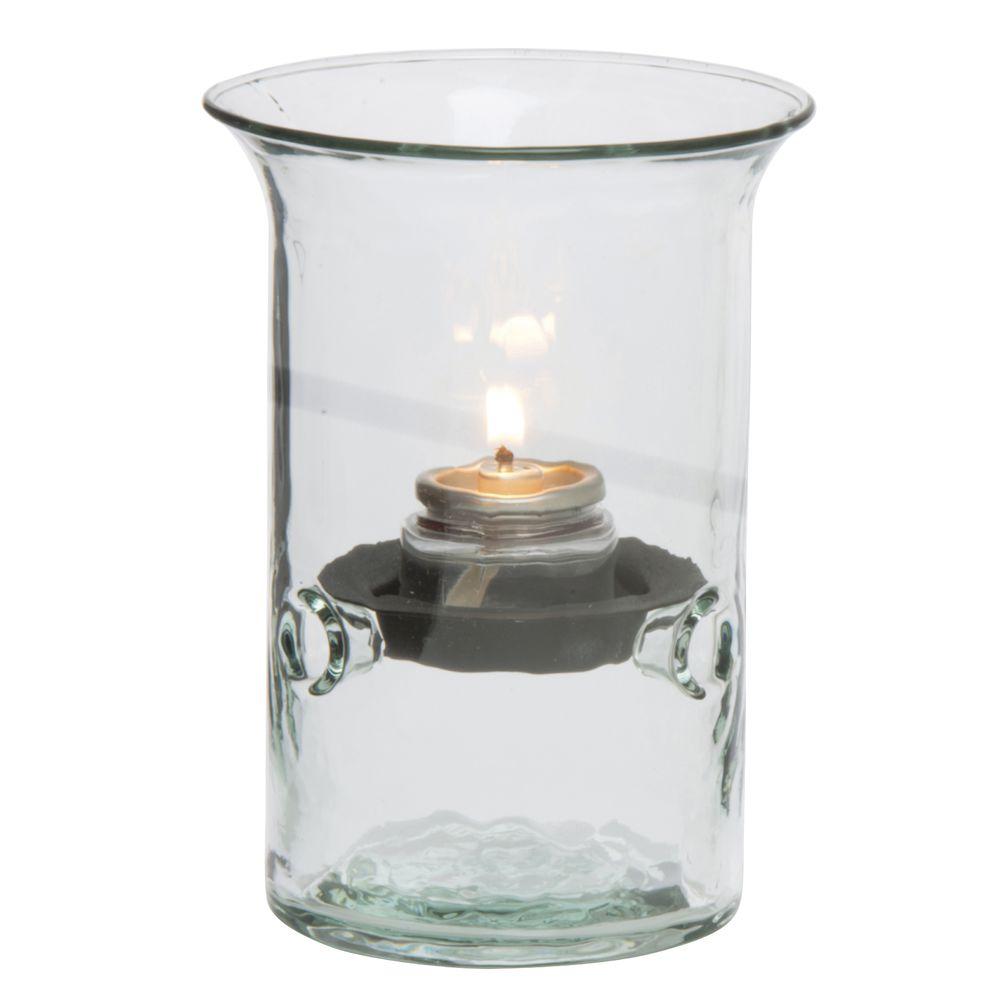 VOTIVE HOLDER, RECYCLED GLASS, S/3