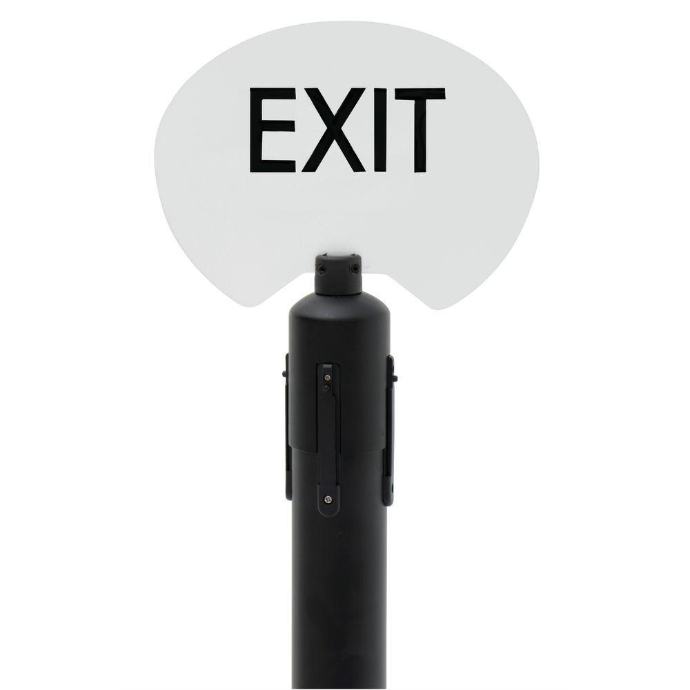 SIGN HOLDER KIT, EXIT, BLACK