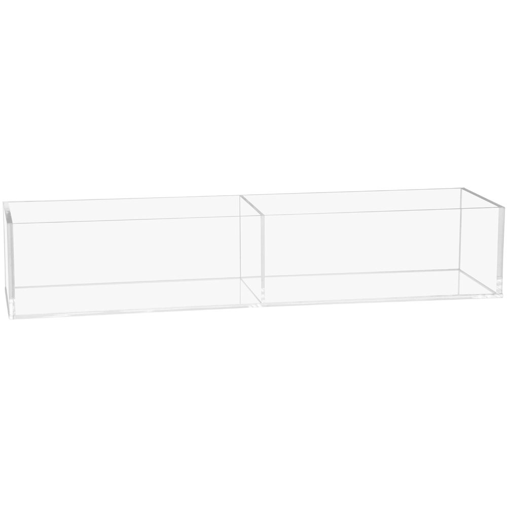 2 Compartment Acrylic Bin