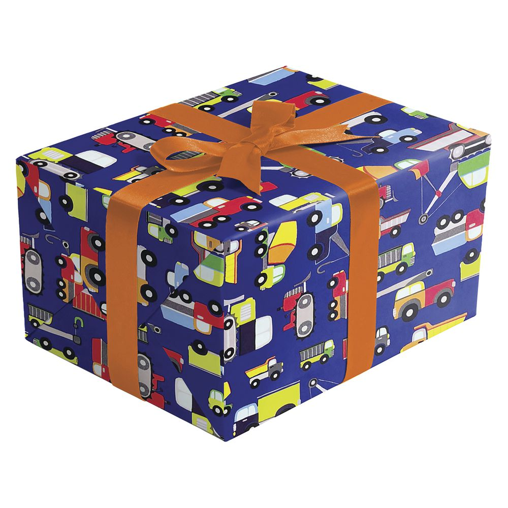 "GIFT WRAP, TRUCKS, HALF ROLL, 24""W"