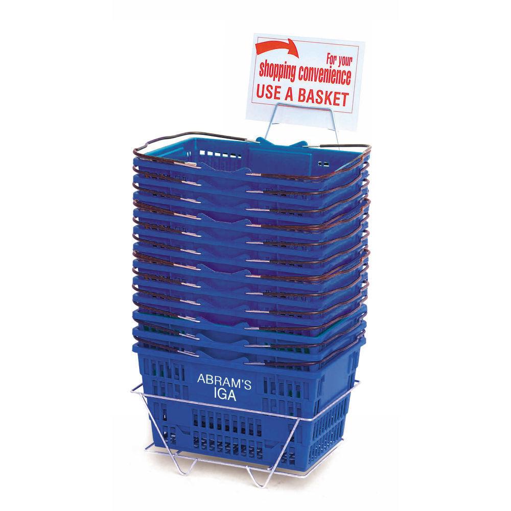 Blue Plastic Shopping Baskets
