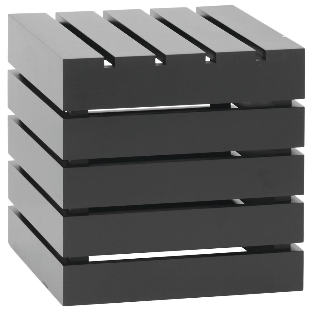 CRATE, SQUARE, BLACK, 12LX12WX12H