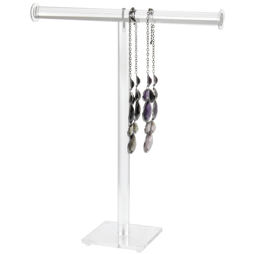 """T-Bar Acrylic Necklace Stands 18"""" H"""