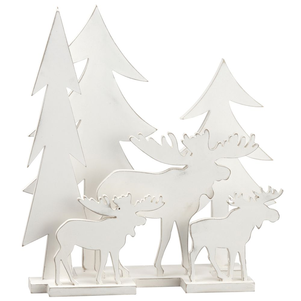 TBLTOP , TREE + MOOSE, 17 X 6 X 20 - SO