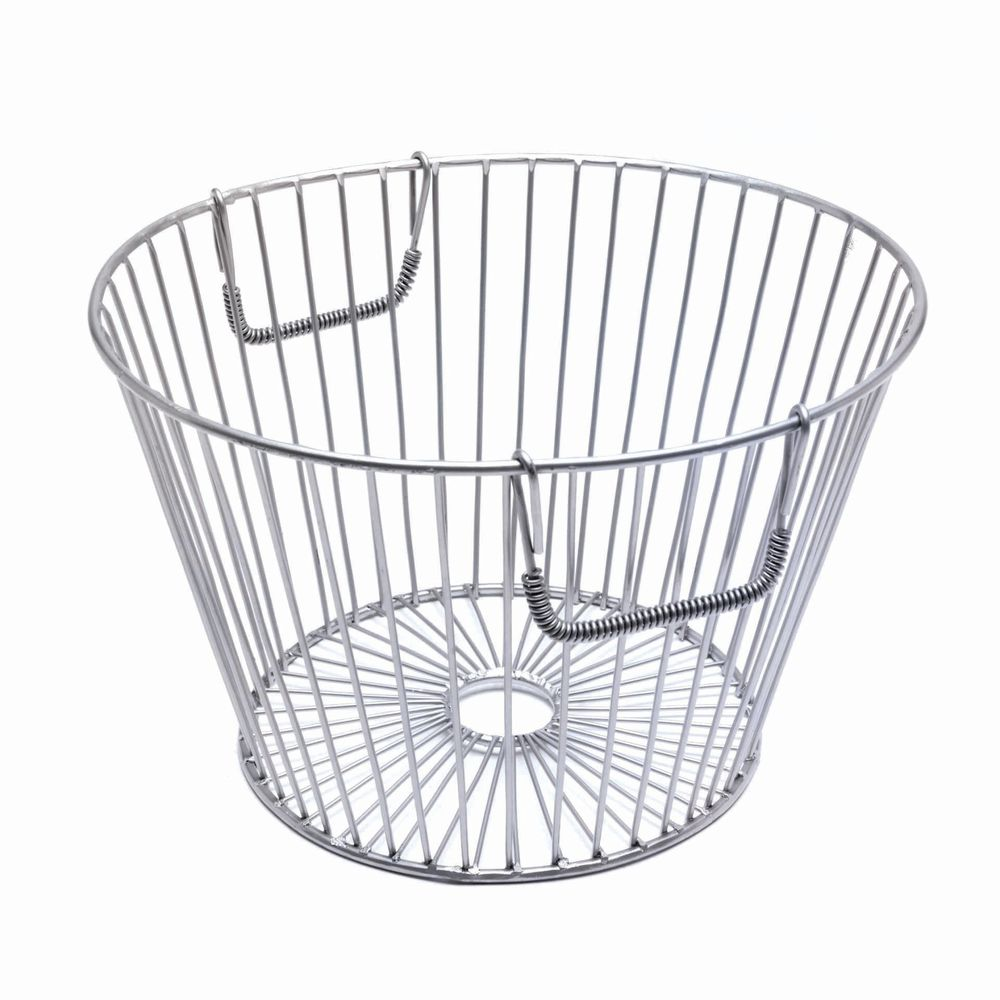 Round Silver Steel Wire Tapered Basket - 15Dia x 10H
