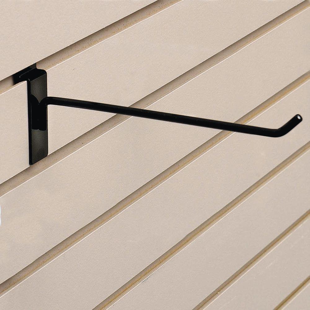 "8"" Black Slatwall Hook"