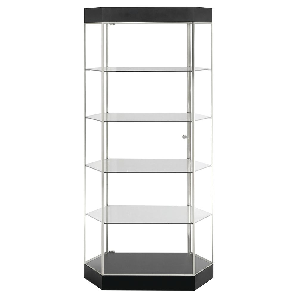 TOWER, DISPLAY, WIDE HEX, BLACK, BR.ALUM FRM