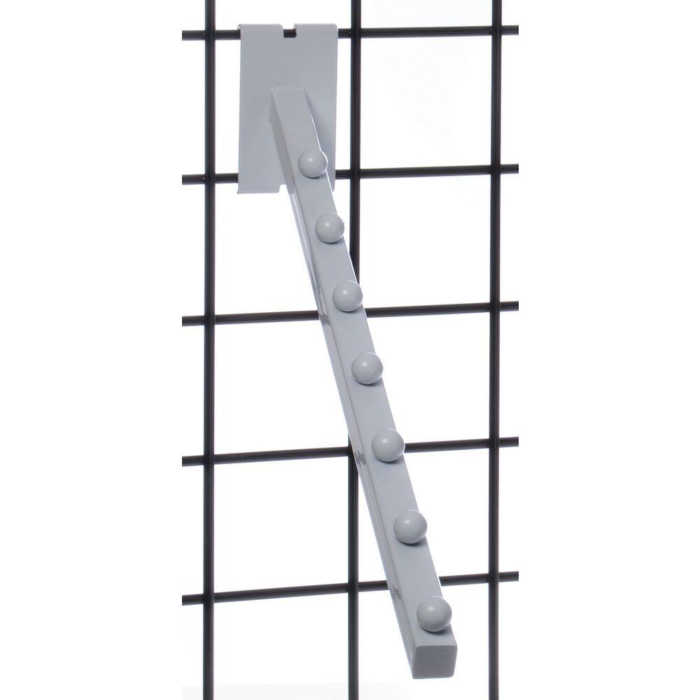White Slat Wall Hooks