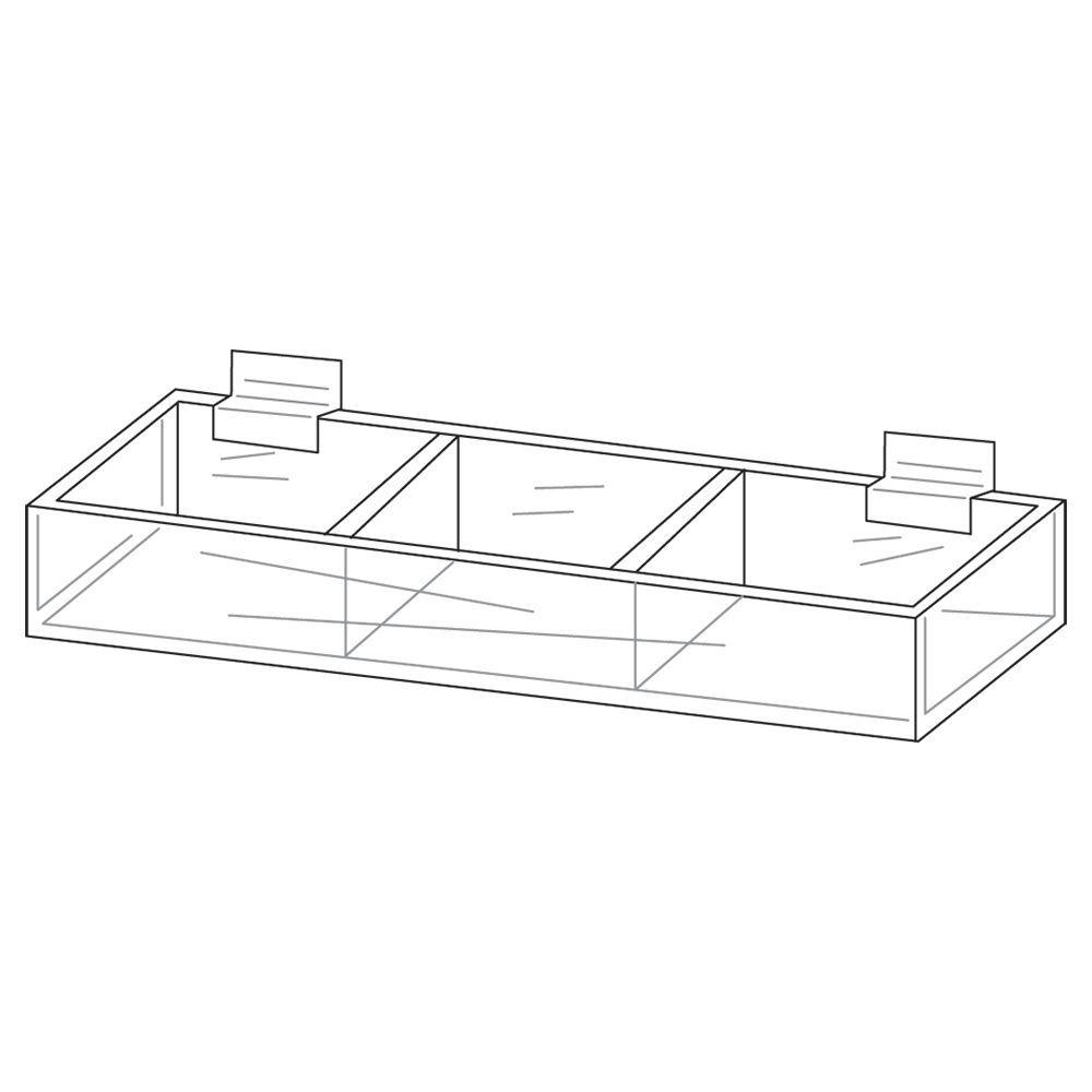 Triple Acrylic Display for Slatwall