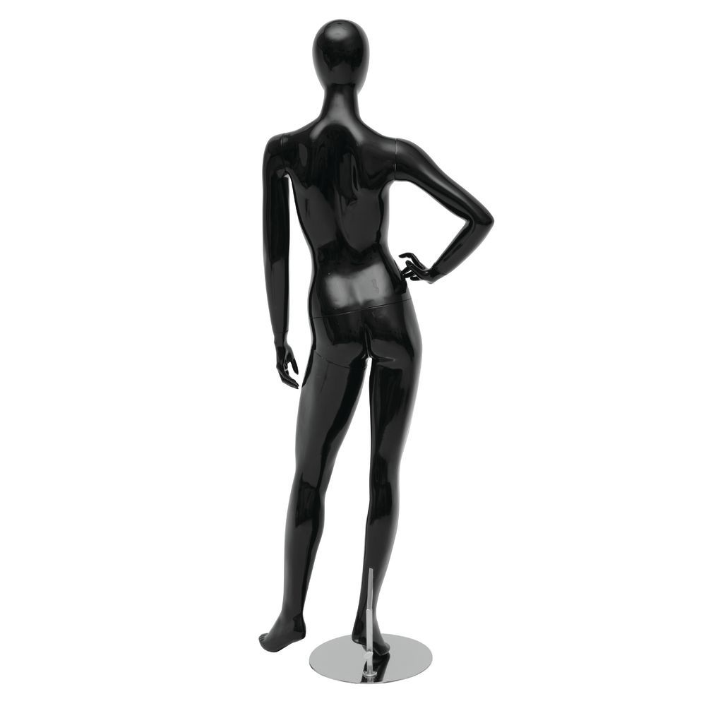 Hand on Hip Black Female Mannequin