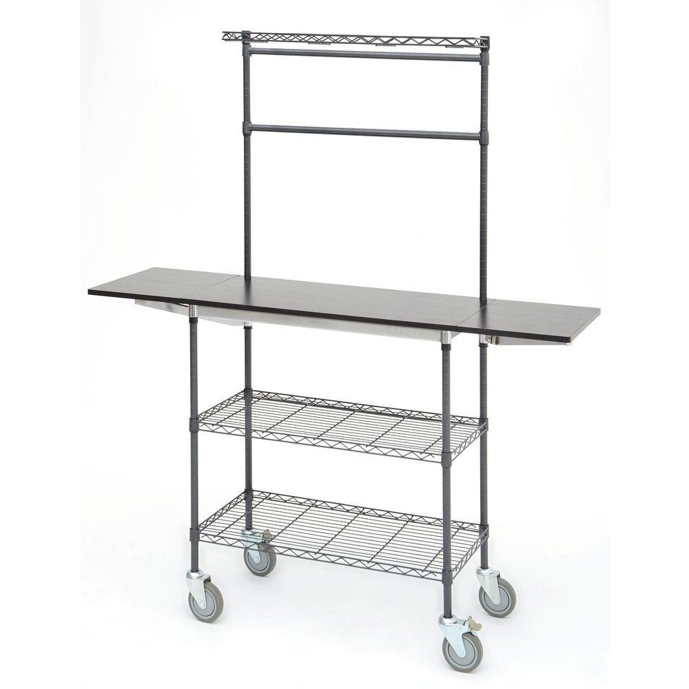 """Mobile Folding Cart, 36"""" x 24"""" x 74"""" (W x D x H)"""