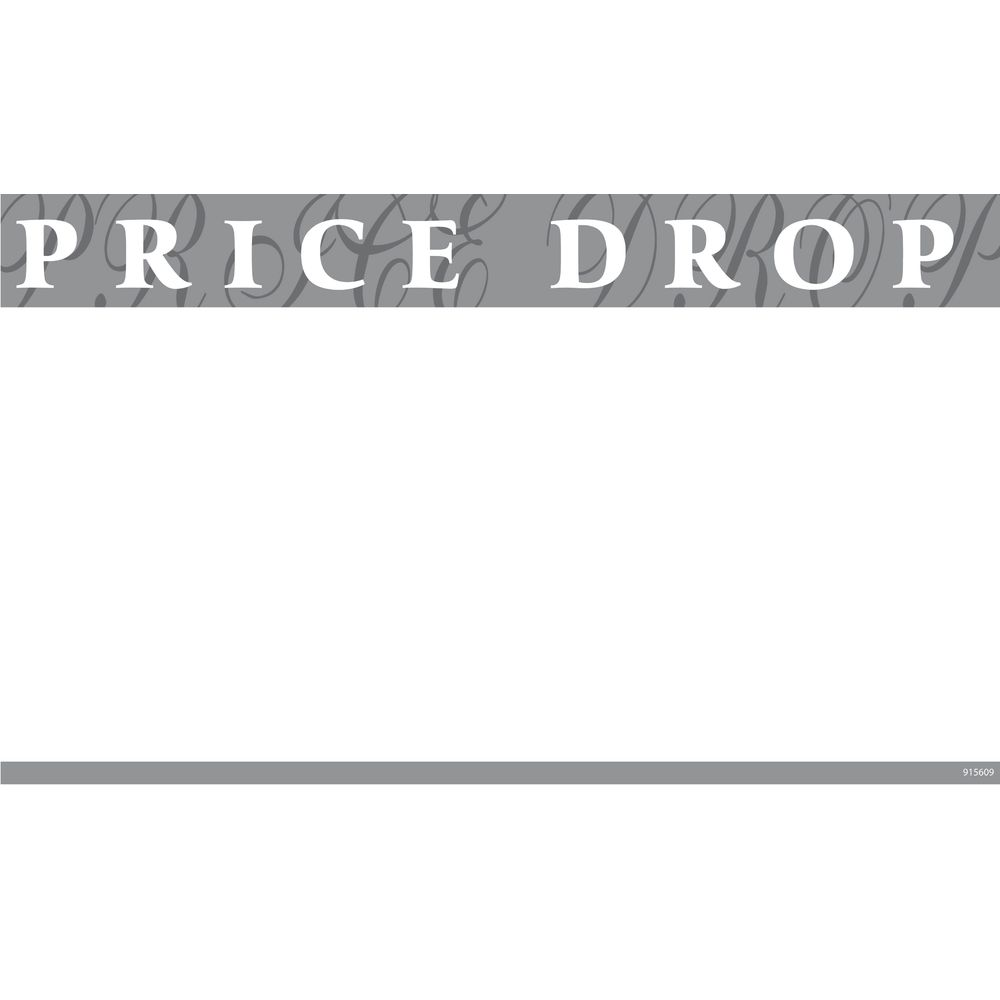 """""""Price Drop"""" Discount Signs, 11 x 7"""
